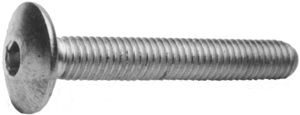 Flachrundkopfschrauben ohne Vierkantansatz mit Schlitz o Mu 4.6 Stahl verzinkt