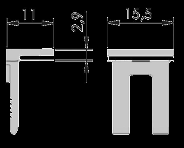 9373 partie sup pour taquet verre kubic avec pi ce ks. Black Bedroom Furniture Sets. Home Design Ideas