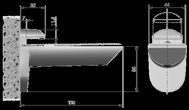 9348 taquet verre kaiman visser pour tag res 8 40 mm. Black Bedroom Furniture Sets. Home Design Ideas